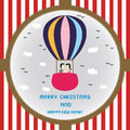 Christmas greeting card kiss on the balloon for everyone Royalty Free Stock Photography