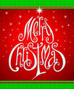 Christmas greeting card merry christmas lettering like christma Stock Photography