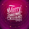 Christmas greeting card merry christmas lettering in vintage st style Stock Images