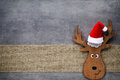 Christmas greeting card. Noel gnome background. Christmas symbol Royalty Free Stock Photo