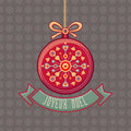 Christmas Greeting Card. Ornament decorate.