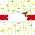 Christmas greeting card with ornate frame Stock Photo