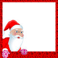 Christmas greeting card with Santa Claus Stock Photography