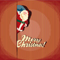 Christmas greeting card santa claus vintage retro Royalty Free Stock Photography