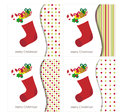 Christmas greeting card with stocking Royalty Free Stock Image
