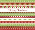 Christmas greeting card striped with greetings Stock Images