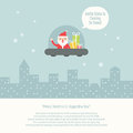 Christmas greeting card vector design Stock Photography