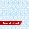 Christmas greeting card vector illustration merry with seamless snowflakes pattern Royalty Free Stock Images