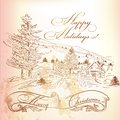 Christmas Greeting Card In Vin...
