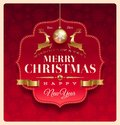 Christmas greeting decorative label Royalty Free Stock Photography