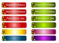Christmas Greeting Labels or Logos Royalty Free Stock Image