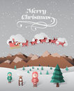 Christmas greeting message with flying santa Royalty Free Stock Photo