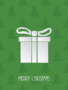 Christmas greeting with white giftbox Royalty Free Stock Photo