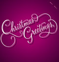 Christmas Greetings hand lettering (vector) Royalty Free Stock Photo