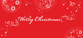 Christmas greetings on red background.Vector Royalty Free Stock Image