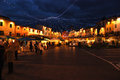 Christmas in greve in chianti near florence italy Stock Photo