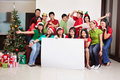 Christmas group shot of Asian people Royalty Free Stock Image