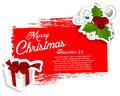 Christmas grunge background vector illustration Royalty Free Stock Photo