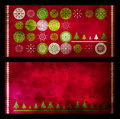 Christmas grunge cards Stock Photos