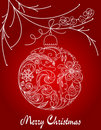 Christmas hand drawn ball Royalty Free Stock Photo