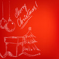 Christmas Hand Drawn Card With...