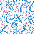 Christmas hand drawn seamless pattern Royalty Free Stock Image