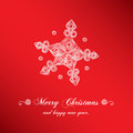 Christmas handmade snowflake simple and creative background with quilling Stock Photos
