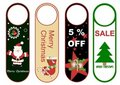 Christmas hang tags s Royalty Free Stock Image