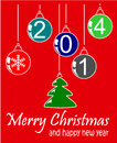 Christmas and happy background new year Stock Image