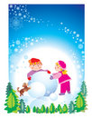 Christmas happy children Royalty Free Stock Image