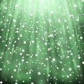 Snowfall on black background, green color Royalty Free Stock Photo