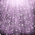 Snowfall on black background, purple color Royalty Free Stock Photo