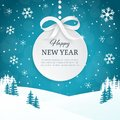 2018 Christmas and Happy New Year greeting card background with snowflakes. Winter scene landscape background with falling snow. Royalty Free Stock Photo