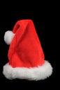 Christmas hat or santa isolated on black Stock Photos