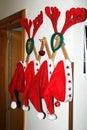 Christmas hats Royalty Free Stock Photo