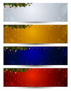 Christmas header Royalty Free Stock Photos