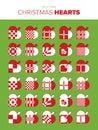 30 Christmas Hearts