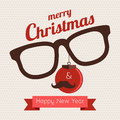 Christmas hipster greeting card about and new year style Royalty Free Stock Photo