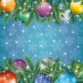 Christmas holiday background for design spruce branches balls snowflakes and stars eps contains transparencies Stock Photography