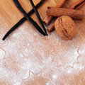 Christmas and holiday baking background Royalty Free Stock Photography