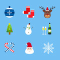 Christmas holiday icons vector set.