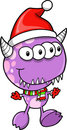 Christmas Holiday Monster Alien Stock Photo