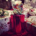 Christmas holiday presents red green Royalty Free Stock Photography