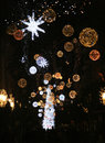Christmas holiday in salerno the planets and the nice tree for celebrations italy december Stock Photos