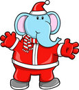 Christmas Holiday Santa Elephant Royalty Free Stock Photos