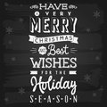 Christmas and holiday season greetings chalkboard eps vector with transparency Stock Photos