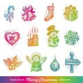 Christmas holiday set Royalty Free Stock Photography