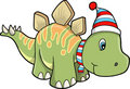 Christmas Holiday stegosaurus Dinosaur Stock Photos