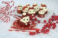 Christmas holiday Strawberry Santas Royalty Free Stock Photo
