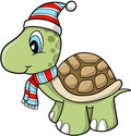Christmas Holiday turtle Stock Photos